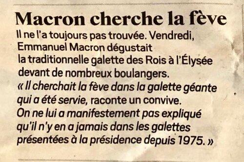 Les infos du lundi avec Macron et ses moutons et ça bouge chez les petits.