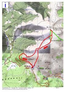 Le Pic Dourmidou en été (1.843 m) depuis le col de Jau (1.506 m)
