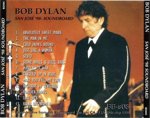 Zimmy Time: Bob Dylan - San José 98