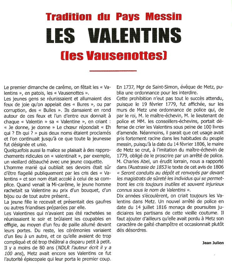 Les Valentins.
