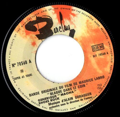 """ALAIN GORAGUER """"BLAGUE DANS LE COIN"""" EP BARCLAY 70568 © 1963"""