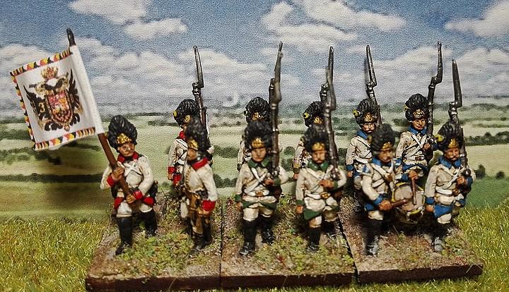 Grenadiers autrichiens 1796.