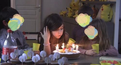 bougies gateau pikachu