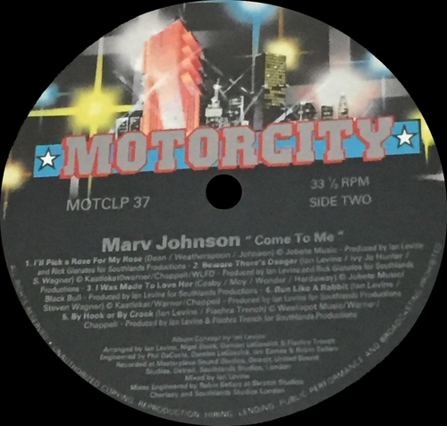 "Marv Johnson : CD "" ‎Come To Me "" Motorcity Records CD MOTCLP 37 [ UK ]"