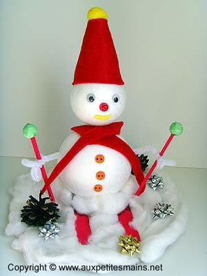 Bonhomme de neige en polysthyrène