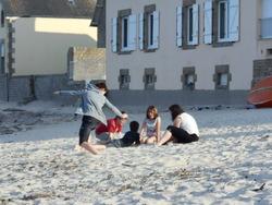 Soirée sur la plage. La routine...