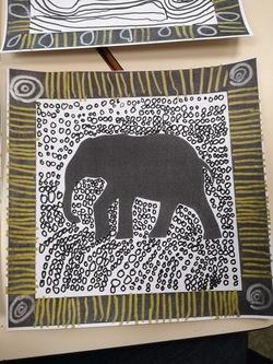 Les elephants, graphisme décoratif MS