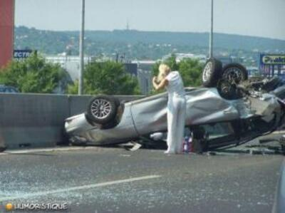 Les accidents sont terribles, mais leurs images font parfois sourire