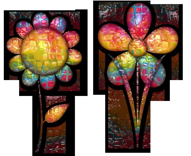 Des fleurs et cadres éclatantes pour vous
