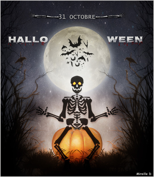 Halloween 2018 (Carte et Papier Outlook)