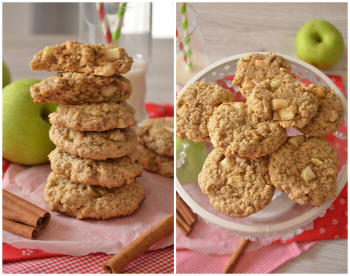 Oatmeal Cinnamon Apple Cookies