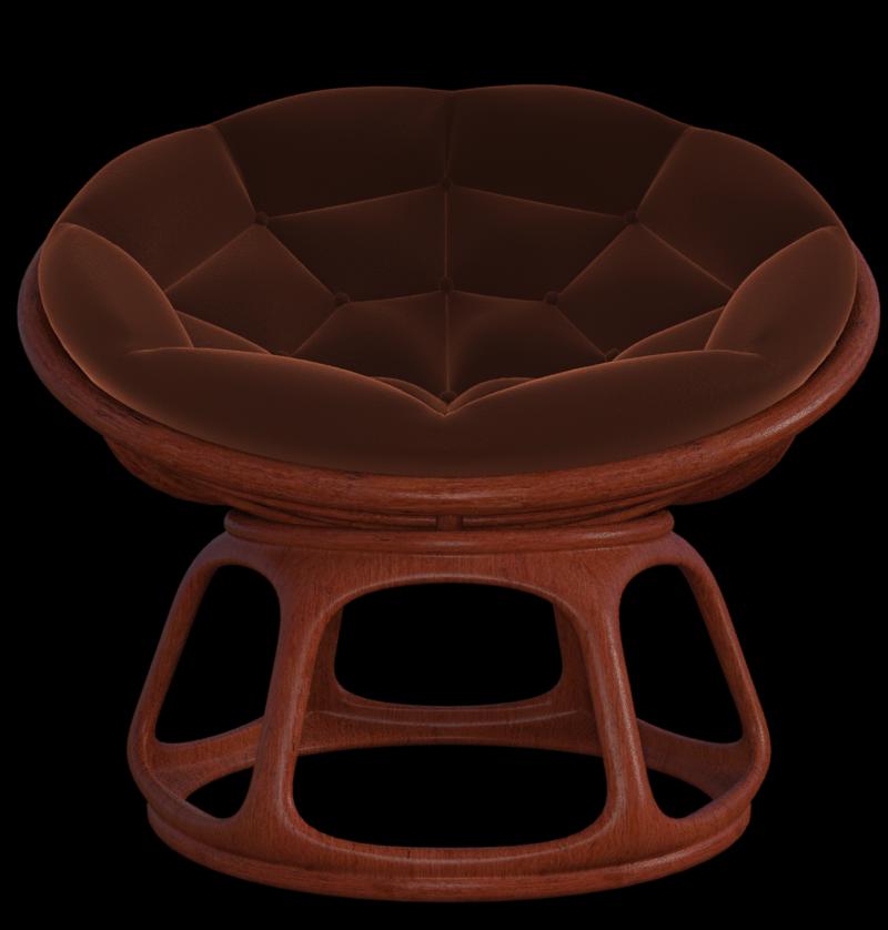 """Tube de fauteuil """"loveuse"""" en velours (image)"""