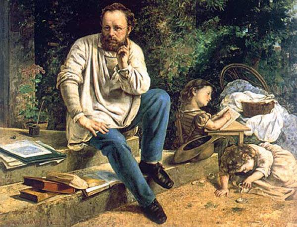 Proudhon Pierre-Joseph par Courbet