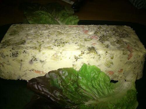 Terrine au brocolis et aux 2 saumons