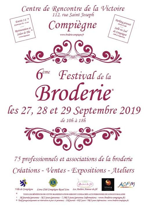 Festival de la broderie à Compiègne