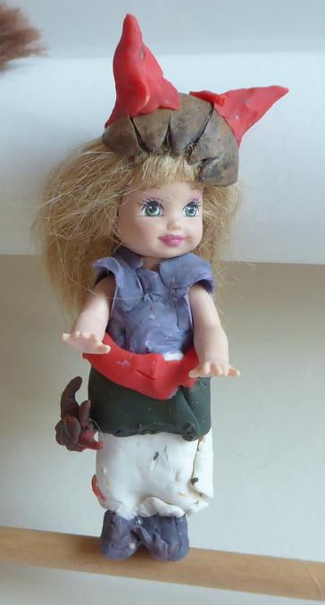 Barbie en mode pâte à modeler