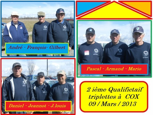 WEEK-END DE QUALIFICATIONS TRIPLETTES H - DOUBLETTES H et F.