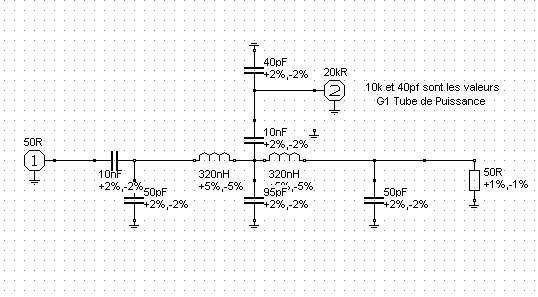 Systeme de charge G1 pour amplificateur d puissance