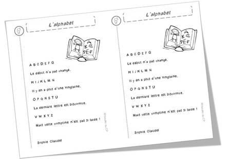 Poèmes alphabet / lettres