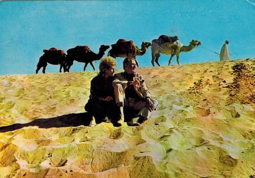 un couple d'amoureux sur les dunes de la Mer de Sable : Anick et Jean Richard !