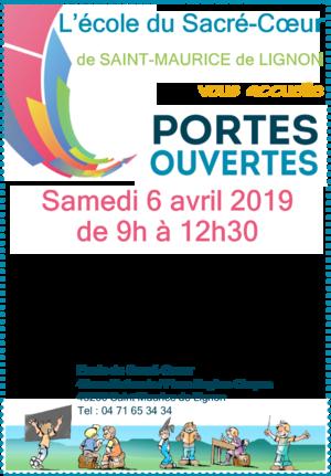 Portes ouvertes de l'école : samedi 6 avril