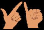 Cartes décompositions de 3 avec les doigts