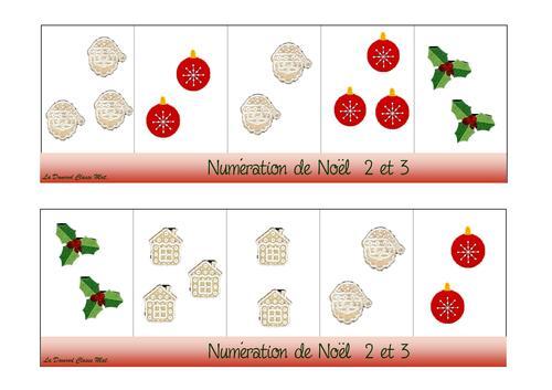 Numération de Noël PS MS