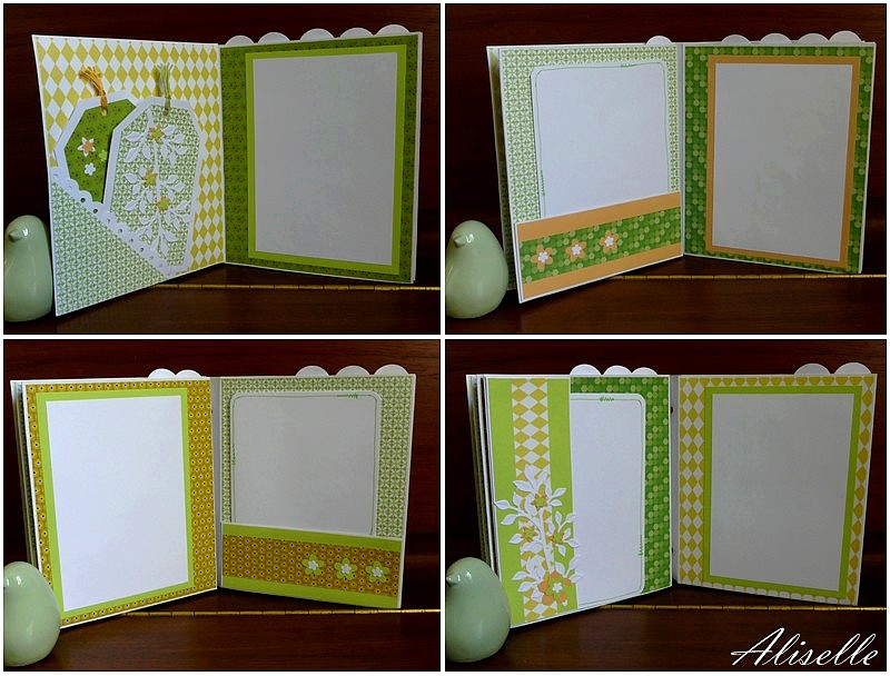 Mini album en vert et orange