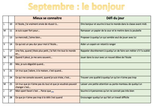 Septembre en bienveillance : les activités de cohésion de groupe