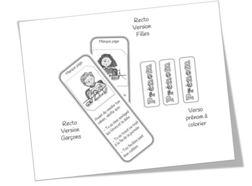 Marque Pages pour cahiers du jour