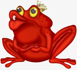 Une grenouille rouge .....