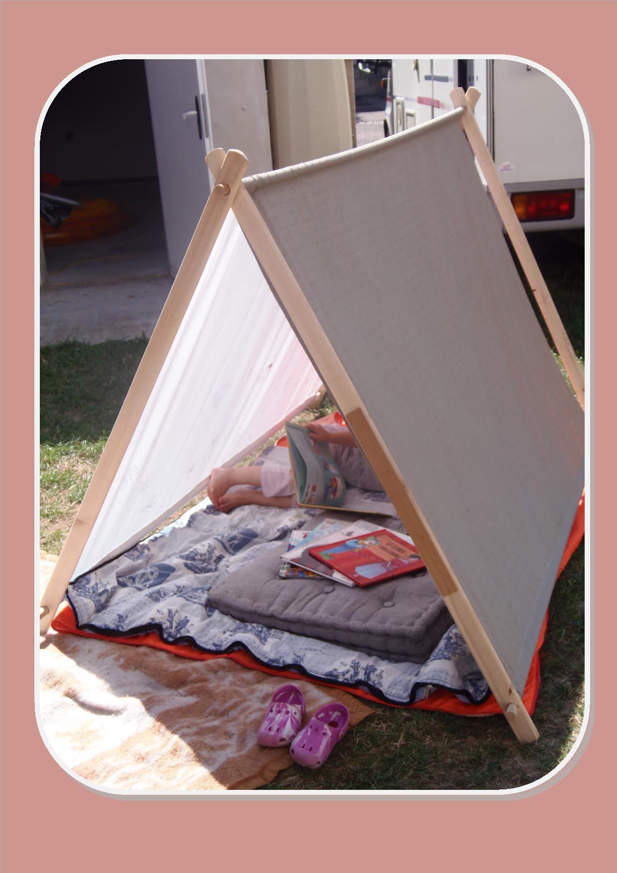 fabriquer une tente pour le jardin mes dimanches en hiver. Black Bedroom Furniture Sets. Home Design Ideas