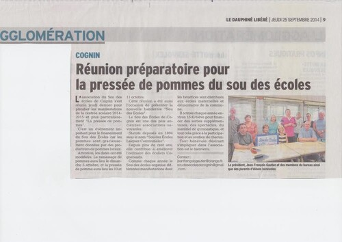 Le Dauphiné libéré du 25-09-2014