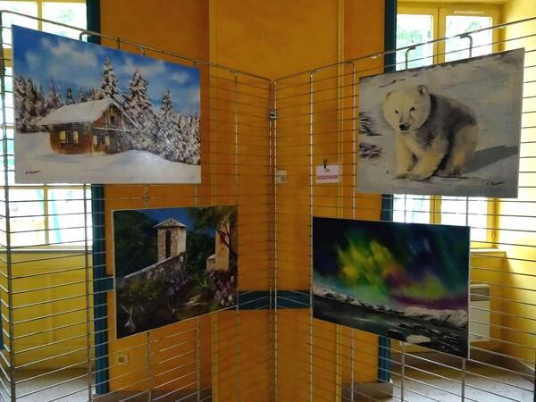 """""""Talents Cachés"""" à Puits, a présenté une superbe exposition de peintures, et de produits artisanaux"""