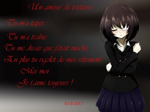 Po me de tristesse et d 39 amour blog 100 manga - Image de manga triste ...
