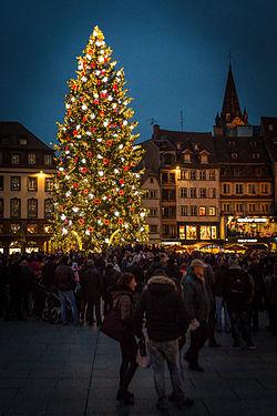 Le grand sapin de Noël de Strasbourg en 2014