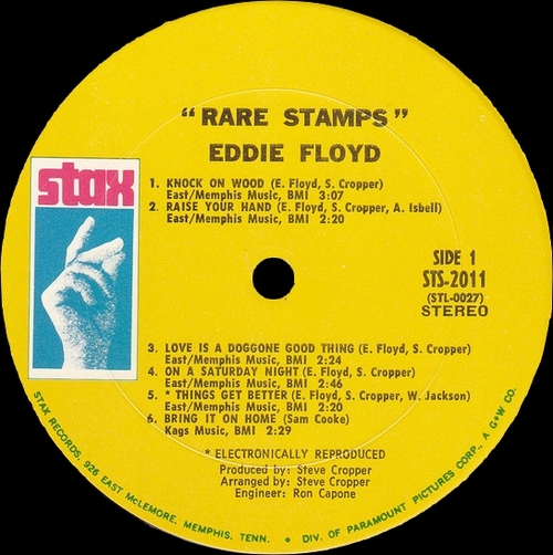 "Eddie Floyd : Album "" Rare Stamps "" Stax ‎Records STS 2011 [ US ]"
