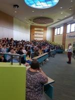 Remise de chèque de la part du Lycée Pouillé 05/06/18