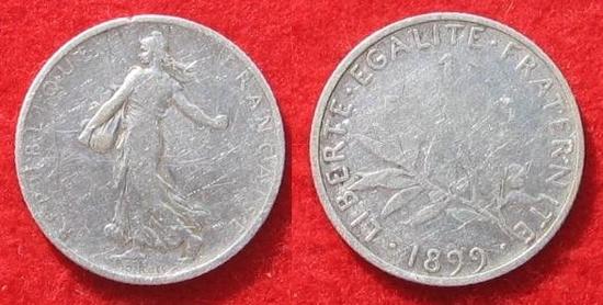 1 franc semeuse argent  1899