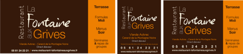 Restaurant La Fontaine Aux Grives