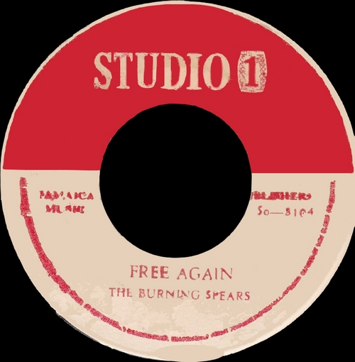 "Burning Spear : Album "" Studio One Presents Burning Spear "" Coxsone Records [ JA ]"