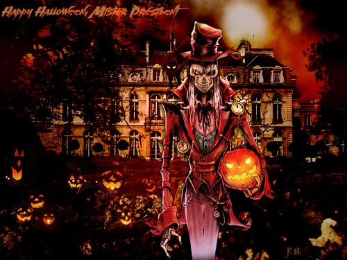 Halloween à l'Elysée