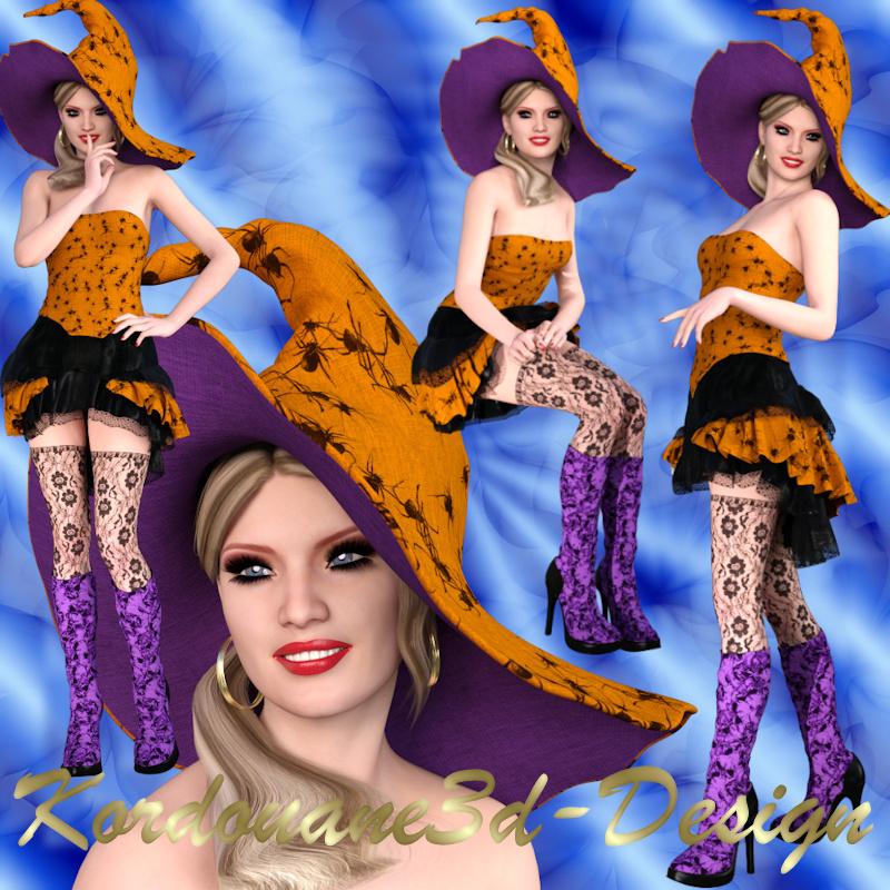 Pandora : 4 tubes de femme sorcière (Halloween)