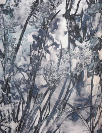 Robe fleur bleue