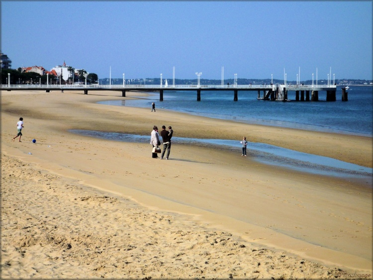 Photo de la jetée Thiers de la plage d' Arcachon en Gironde
