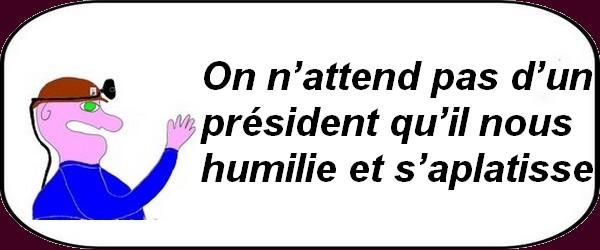 Pour pouvoir récupérer des voix Macon crache sur l'histoire de la France en Algérie?