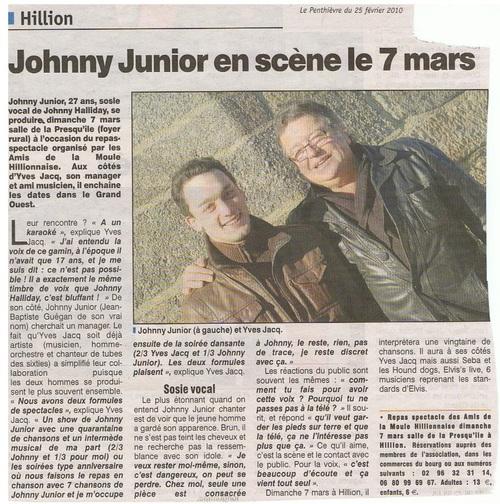 Jean-Baptiste Guégan, la voix de Johnny