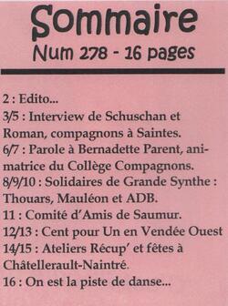"""Le journal """"De bouches à Oreilles"""" en 2018"""