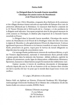 025 > LE PÉRIGORD DANS LA SECONDE GUERRE MONDIALE