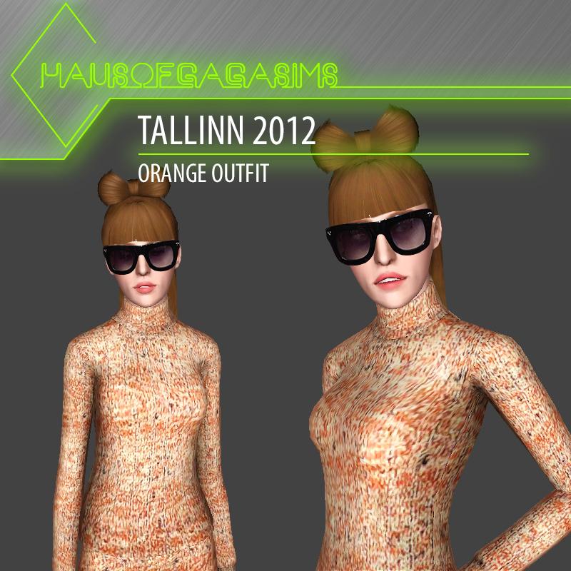 TALLINN 2012 ORANGE OUTFIT